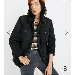 Madewell jean jacket Gallagher blackSherpa edition